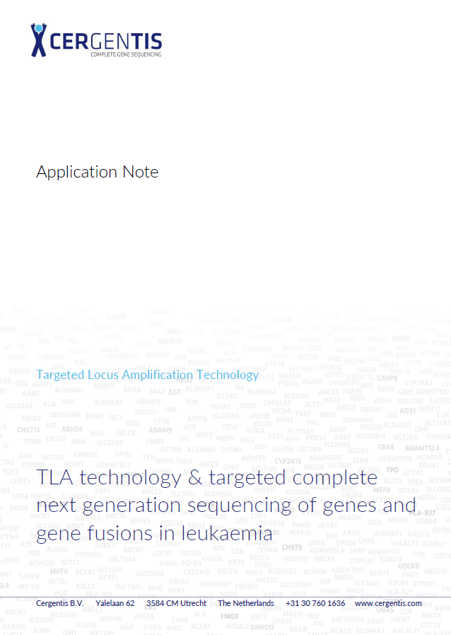 Application note on the application of TLA in gene fusion detection in pediatric leukaemia