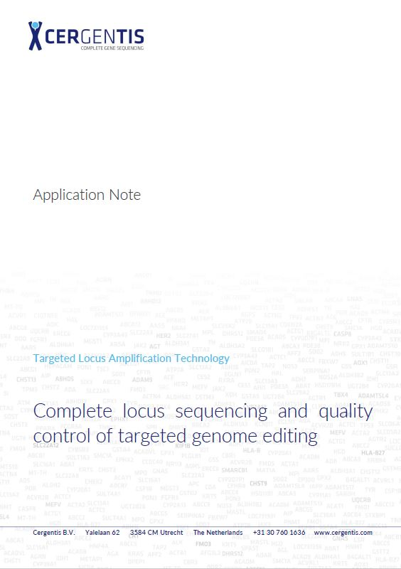 Appnote: TLA for complete locus sequencing and quality control of targeted genome editing