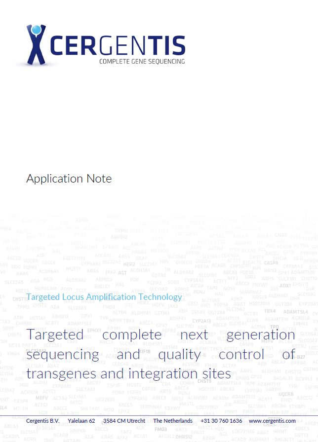 Application note on TLA-based transgene and -integration site sequencing.