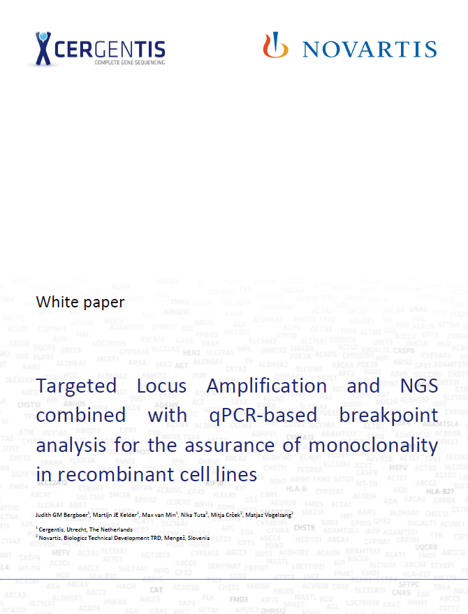 Targeted Locus Amplification and NGS combined with qPCR-based breakpoint analysis for the assurance of monoclonality in recombinant cell lines