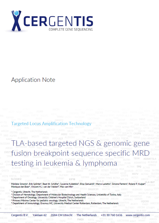 Application note on MRD testing using TLA data