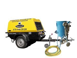 Combinatie straalketel + dieselcompressor