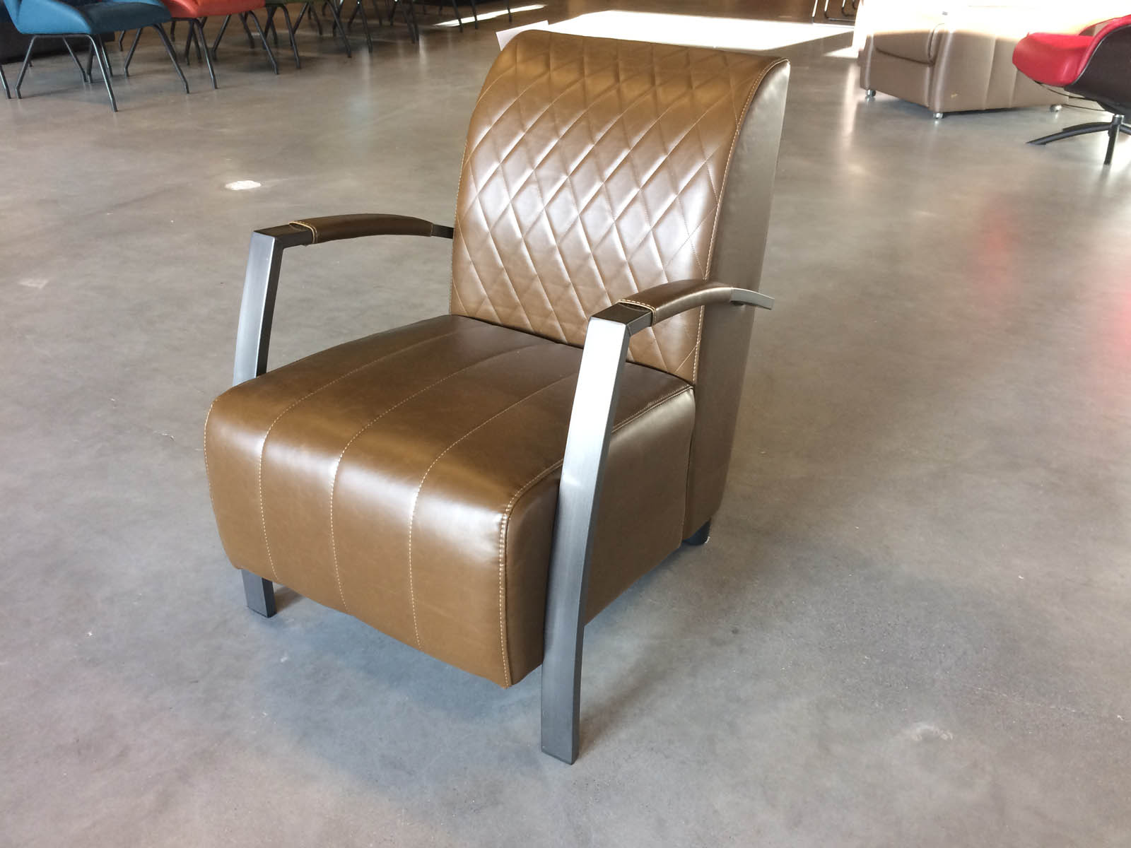 Brasil fauteuil Vintage Camel