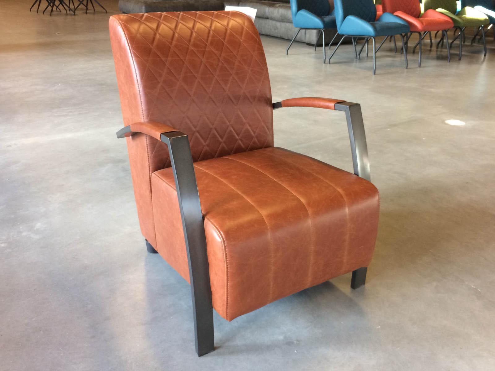 Rio fauteuil Vintage Cognac