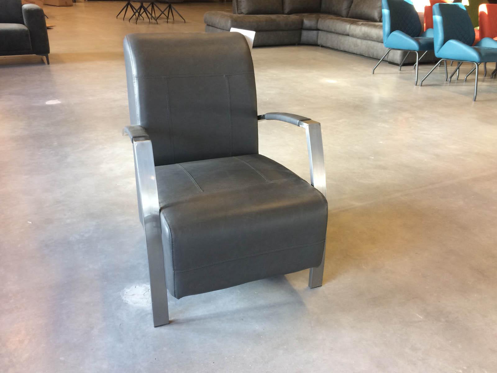Rio fauteuil Vintage Zwart