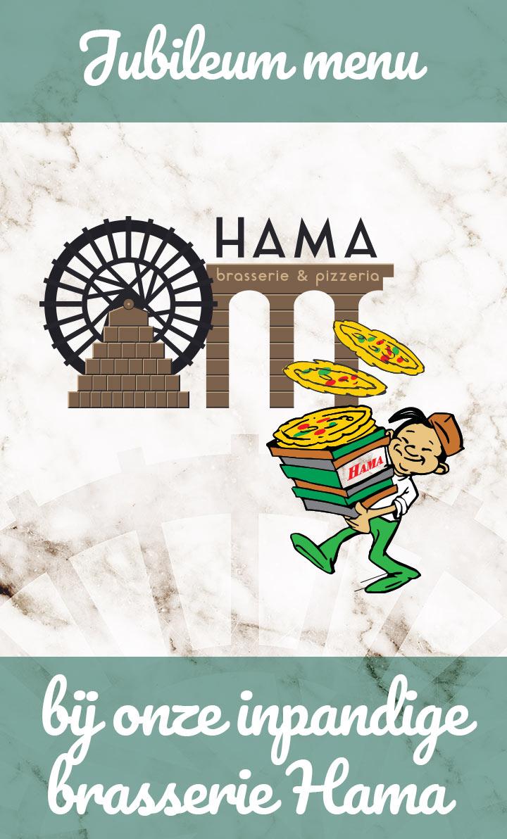 Hama Jubileum menu